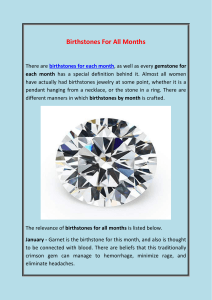 Birthstones For All Months