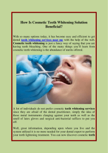How Is Cosmetic Teeth Whitening Solution Beneficial