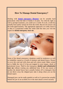 How To Manage Dental Emergency