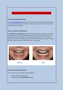 Risks Involved In Teeth Whitening Procedure