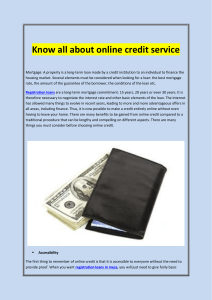 Know all about online credit service