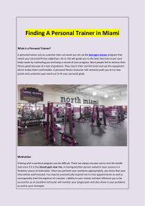 Finding A Personal Trainer in Miami