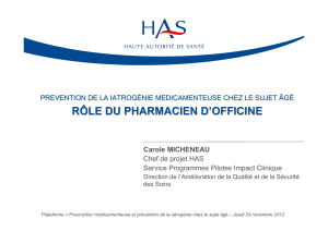 le role du pharmacien HAS