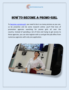 How to Become a Promo Girl