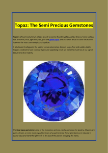 Topaz The Semi Precious Gemstones