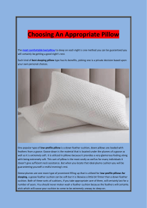 Choosing An Appropriate Pillow