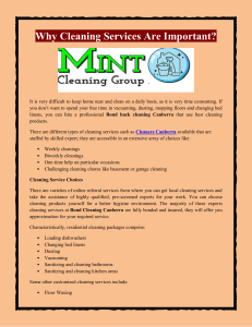 Why Cleaning Services Are Important