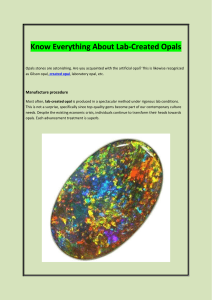 Know Everything About Lab Created Opals