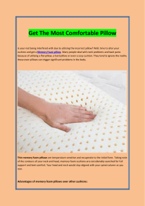 Get The Most Comfortable Pillow