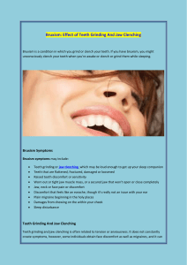 Bruxism Effect of Teeth Grinding And Jaw Clenching