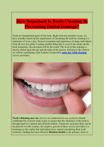 How Important Is Teeth Cleaning In Preventing Dental Damage