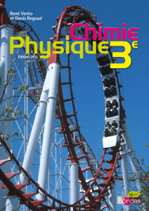 Regaud, Denis  Vento, René - Physique Chimie 3e-Bordas (2012)