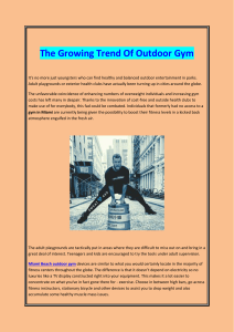 The Growing Trend Of Outdoor Gym