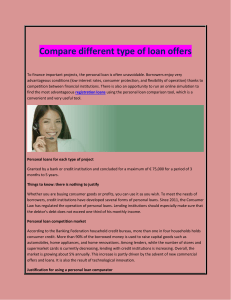 Compare different type of loan offers