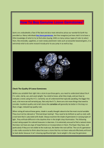 How To Buy Genuine Loose Gemstones
