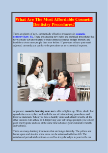What Are The Most Affordable Cosmetic Dentistry Procedures