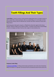 Tooth Fillings And Their Types