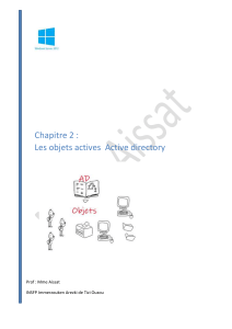 02 les objets  Active directory w2012