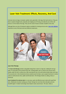 Laser Vein Treatment Effects, Recovery, And Cost