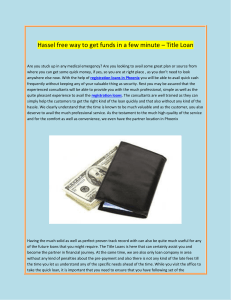 Hassel free way to get funds in a few minute Title Loan