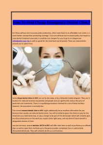 How To Find Cheap Emergency Dental Clinic