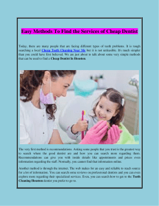 Easy Methods To Find the Services of Cheap Dentist