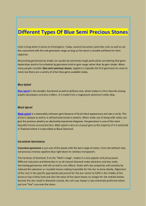 Different Types Of Blue Semi Precious Stones
