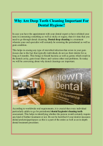 Why Are Deep Teeth Cleaning Important For Dental Hygiene