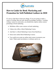 How-to Guide for Book Marketing