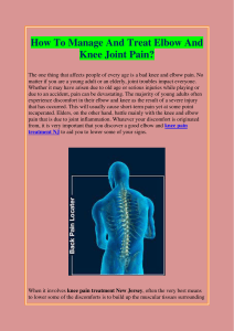 How To Manage And Treat Elbow And Knee Joint Pain