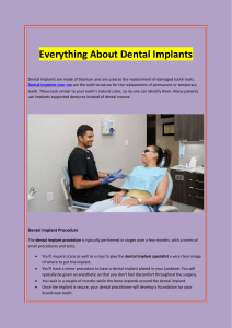 Everything About Dental Implants