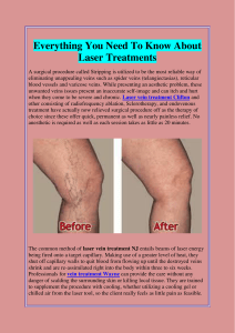 Everything You Need To Know About Laser Treatments