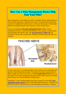 How Can A Pain Management Doctor Help Ease Your Pain