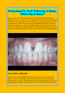 Professional Or Teeth Whitening At Home Which One Is Better
