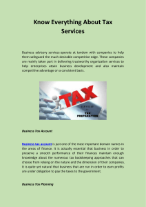 Know Everything About Tax Services