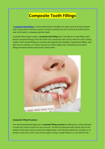 Composite Tooth Fillings