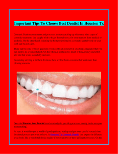 Important Tips To Choose Best Dentist In Houston Tx
