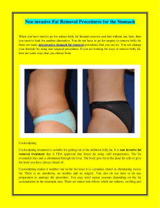 Non invasive Fat Removal Procedures for the Stomach