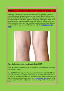 Finding A Vein Treatment Center In Your City