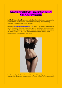 Knowing Full Body Liposuction Before And After Procedure