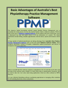 Basic Advantages of Australia's Best Physiotherapy Practice Management Software