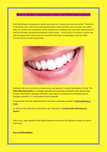 Which Is The Best Professional Or Home Teeth Whitening Procedures