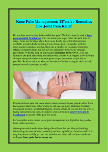 Knee Pain Management Effective Remedies For Joint Pain Relief