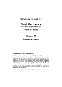 Solutions Manual for Fluid Mechanics Sev