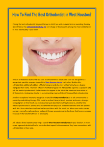 How To Find The Best Orthodontist in West Houston