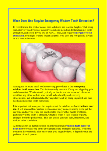 When Does One Require Emergency Wisdom Tooth Extraction