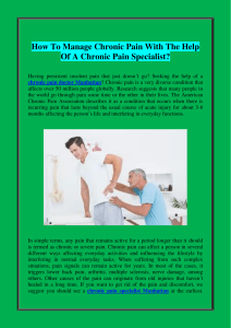 How To Manage Chronic Pain With The Help Of A Chronic Pain Specialist