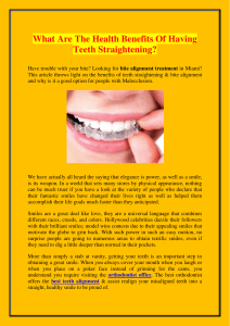 What Are The Health Benefits Of Having Teeth Straightening