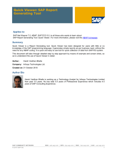 Quick Viewer SAP Report Generating Tool - foroSAP