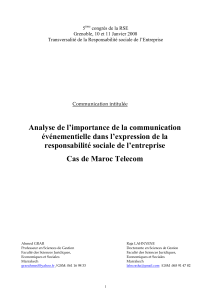 Analyse de l'importance de la communication evenementielle d